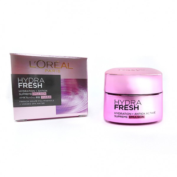 L'oreal Hydra Fresh Hydration + Antiox Active Supreme Emulsion, 50ml