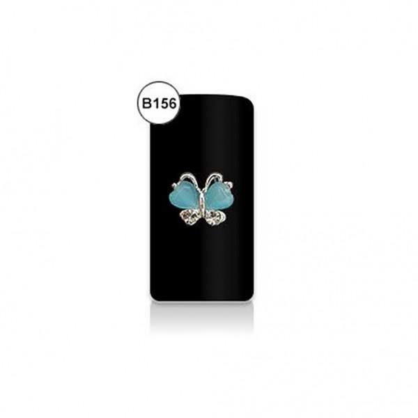 Μπιζού Νυχιών Β156- Πεταλούδα Μπλε