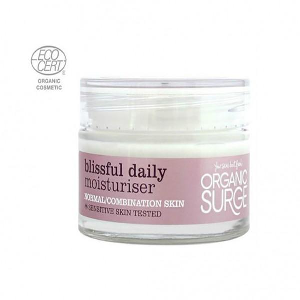 Organic Surge - Ενυδατική Κρέμα Blissful Daily με Βιολογικά Αιθέρια Έλαια Γλυκού Αμυγδάλου & Λεμονιού! 50ml