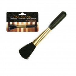 Cosmetic brush black / gold 19x3 cm