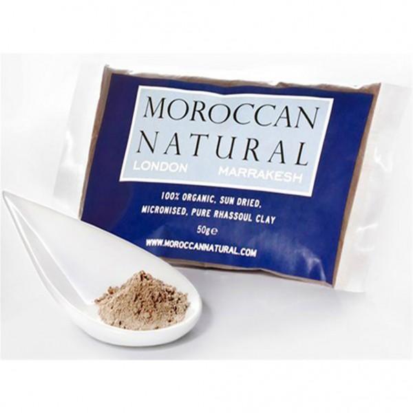Moroccan Natural - 100% Άργιλος Rhassoul 50gr - Αφαιρεί τη λιπαρότητα και τα νεκρά κύτταρα! Aπομακρύνει οριστικά τους ρύπους και τα μαύρα στίγματα!
