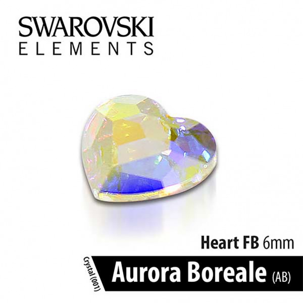 Swarovski Καρδιά Crystal Aurora