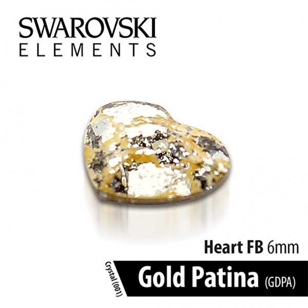 Swarovski Καρδιά Gold Patina