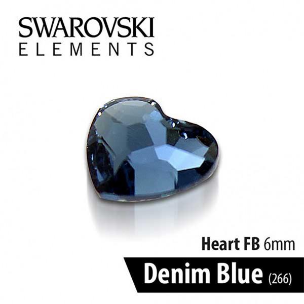 Swarovski Καρδιά Denim Blue