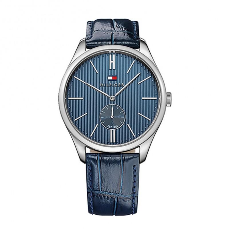 94b742151ced Ρολόι Tommy Hilfiger Curtis Blue Leather Strap