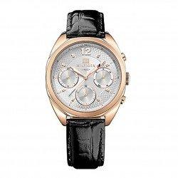 Ρολόι Tommy Hilfiger Mia Multifunction Rose Gold Black Leather Strap 5d1bb7f4507