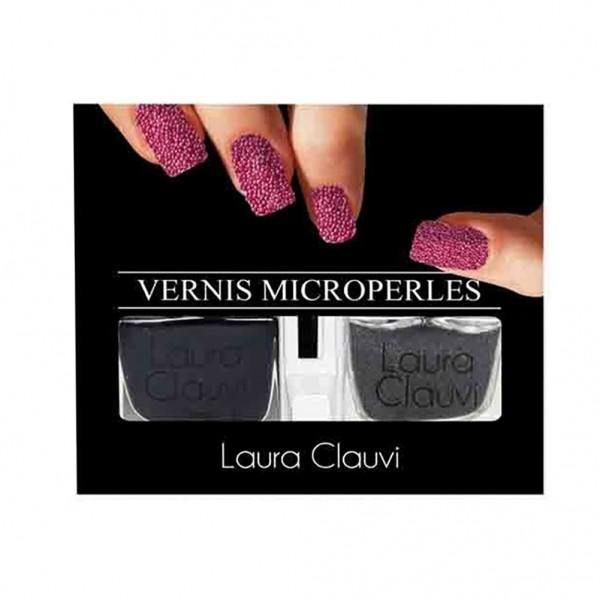 Laura Clauvi σετ Βερνίκι με  MICROPERLES black pearl